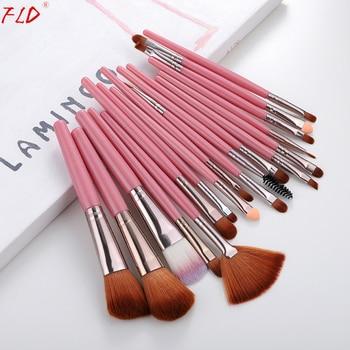 FLD Professional 18Pcs Foundation Makeup Brushes Set Kabuki Eye shadow Eyeliner Mascara Blush Brushes Set Powder Tool Kits 1