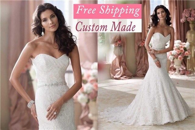 Free Shipping Venda Quente Vestidos De Noiva Elegante 2019 New Querida Sereia Rendas Apliques Personalizado Feito Wedding Dress