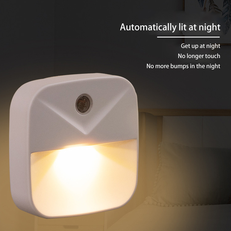 LED Night Light Mini Light Sensor Control 110V 220V EU US Plug Nightlight Lamp For Children Kids Living Room Bedroom Lighting