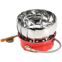 Lixada Windproof Piezo Ignition Lotus Gas Stove Outdoor Cooking Burner Cookware with Adapter for Camping Hiking Picnic