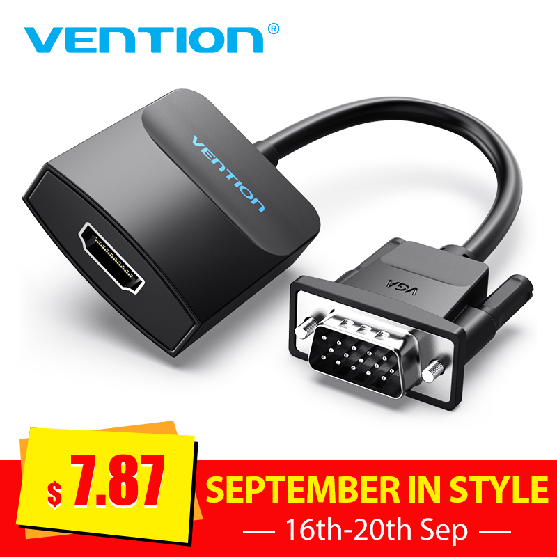 Vention VGA To HDMI Adapter With Audio Support 1080P For PC Laptop To HDTV Projector Video Audio Converter Vga Hdmi Converter