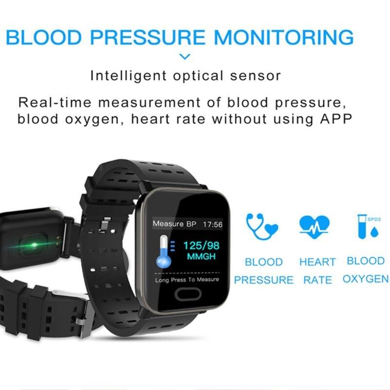 Plein écran tactile 2019 hommes montre intelligente A6 Bluetooth Android/ios téléphone avec 30 jours veille Sport Modes Fitness fréquence cardiaque