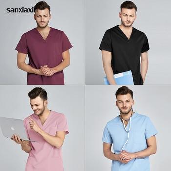Scrubs uniform Suit beauty salon nursing uniform lab coat spa uniform pet shop women Work clothes scrub pantsSXX42001-11