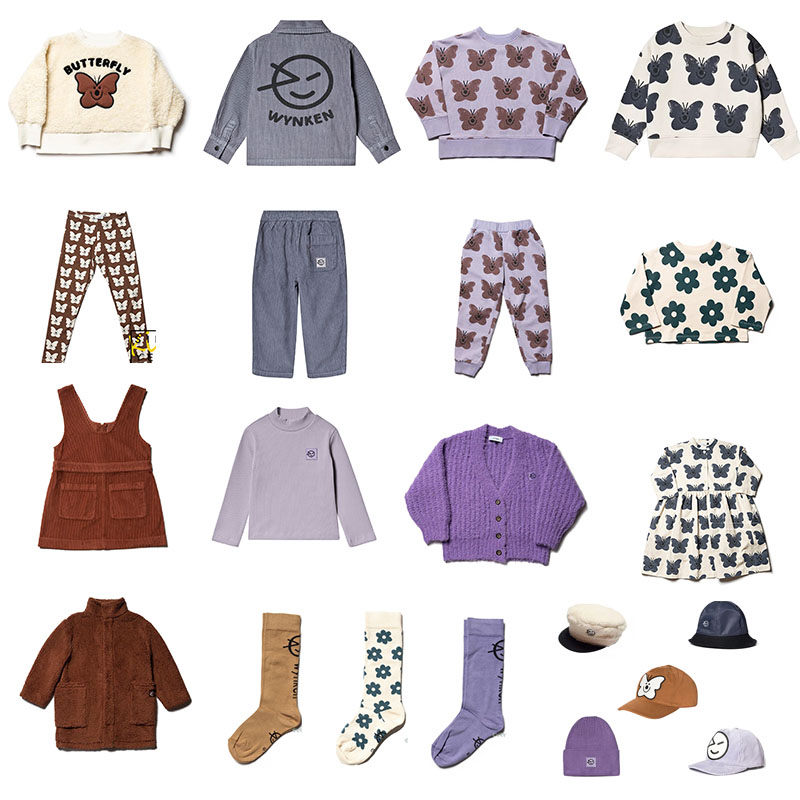 2019 Brand Wynken Kids Winter Clothes Sweaters Child Fashion Brand Design Butterfly Flower Sweatshirt And Pants Toddler Sweaters
