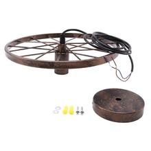 Новый железный ретро светильник, промышленная лампа, скандинавский металлический светильник на колесиках s, Подвесная лампа E27, освещение для помещений, потолосветильник, домашний декор
