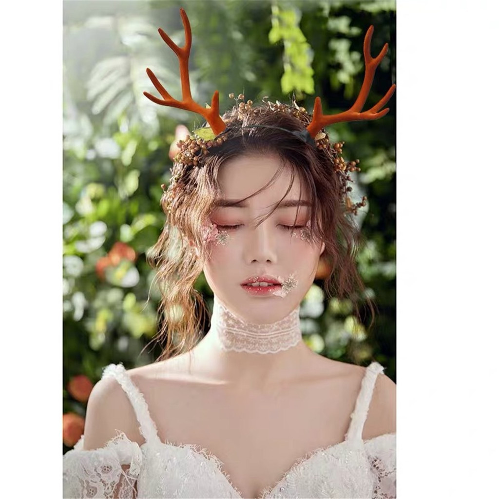 Christmas Antlers Headpiece Deer Ears Headband Headband For Women Girls Unisex Headband Party Christmas Hair Accessories