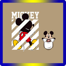 1 pièces Mickey Dessin Animé Autocollants Thermiques D'impression Sur Enfants Robe T-Shirt Transfert de Chaleur Patch Badges Belle Autocollants(China)