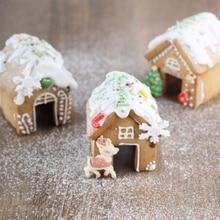 3 шт. Рождественский Пряничный дом бисквитный резак набор из нержавеющей стали формы для печенья Y98B