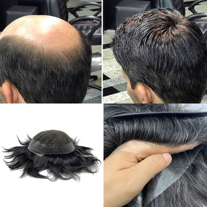 Hair Prosthesise Lace Wigs For Men Hair Toupee For Men Swiss Lace Around Pu Base
