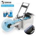 Полуавтоматическая машина для маркировки ZONESUN  полуавтоматическая машина для нанесения этикеток на пластиковые стеклянные бутылки  дезинф...