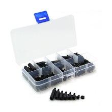 цена на 300pcs M3 Nylon Hex Spacer Screws Nut Distance Weapon Plastic Accessories Assortment Kit