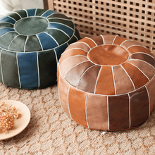 Unstuffed-Cushion Ottoman Pouf Moroccan Footstool Round Large Hassock Craft Embroider