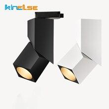 Арт куб поверхностного монтажа трек светлый светодиод регулируемый угол рельс лампа фон рельс прожекторы спальни лампы для склада