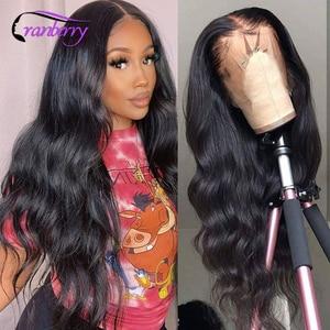 Бразильские волнистые парики 13x4, человеческие волосы на кружеве, парики для женщин, предварительно выщипанные волосы, клюквенные волосы Remy,...