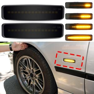 2pcs Dynamic Led Marker Light Car Fender Side Yellow Flowing Sequential Turn Signal Light 12V For BMW E39 Car Tuning Supplies