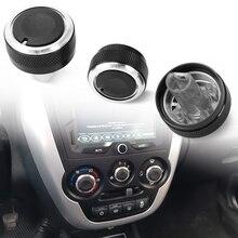 3pcs Aluminum For Lada Granta AC air condition knob Sticker accessories