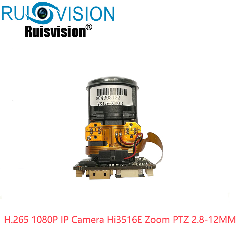 H.265 2MP 1080P IP Camera Hi3516E Zoom PTZ 2.8-12mm Electric Focusing autofocus IP Camera Module CMS ONVIF Surveillance image