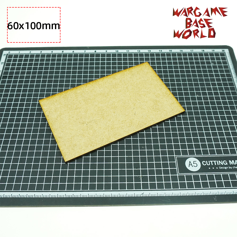 MDF Bases - Rectangle 100 X 60mm - Basing Laser Cut Wargames Wood