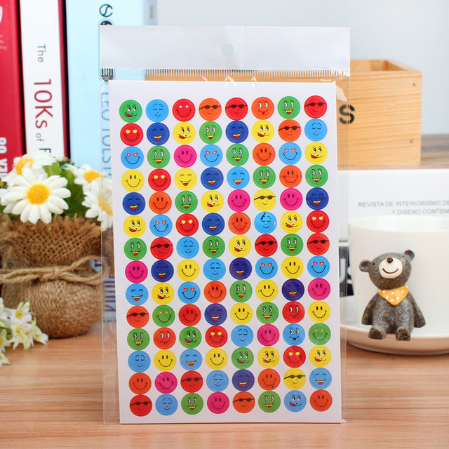 1120pcs Funny Stickers Smile Face Reward Children Stickers School Teacher Merit Praise Class Sticky Paper Classic Toys For Kids