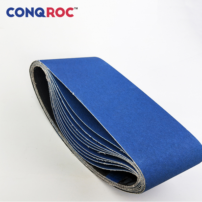 5 Pieces 100 x 610mm 4'' x 24'' Sanding Belts Zirconia Blue Sander Belt Grit <font><b>40</b></font> 60 80 100 <font><b>120</b></font> 150 180 240 320 Abrasive Belt image