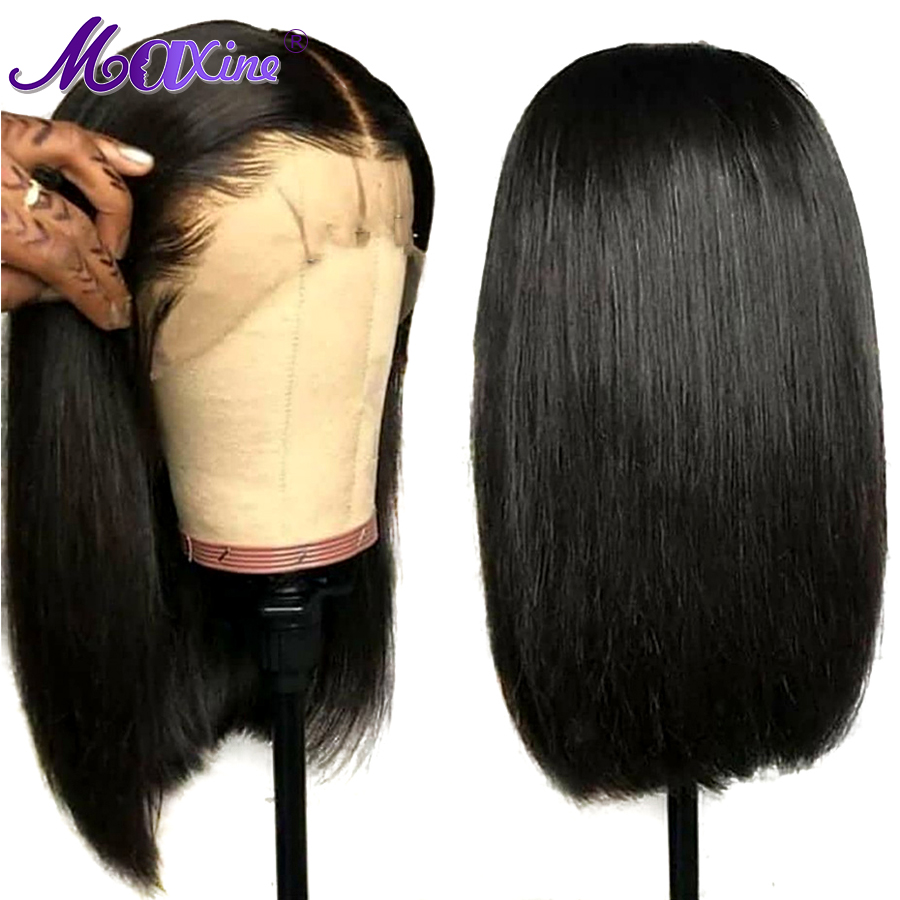 Maxine Short Blunt Cut Bob Wig Straight Lace Front Human Hair Wigs For Black Women 8