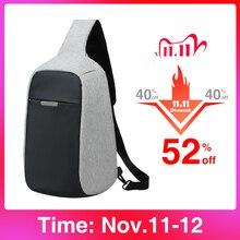Mixi Противоугонная сумка через плечо, Мужская нагрудная сумка на лямках, подходит для 9,7 дюймового iPad, сумка мессенджер, Спортивная дорожная маленькая сумка на одно плечо