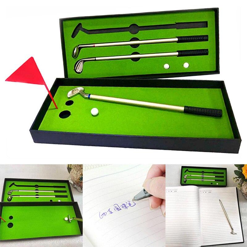 Cross-Border E-Commerce Selling Office Gifts Water Pen Set He Zhuang Bi Creative GOLF Mini Green Driving Range