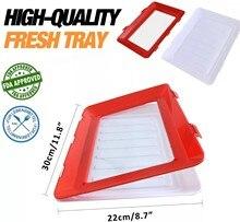Manter alimentos frescos bandeja vedação a vácuo elástico preservação placa reutilizável recipiente de armazenamento de alimentos geladeira organizador cozinha ferramentas