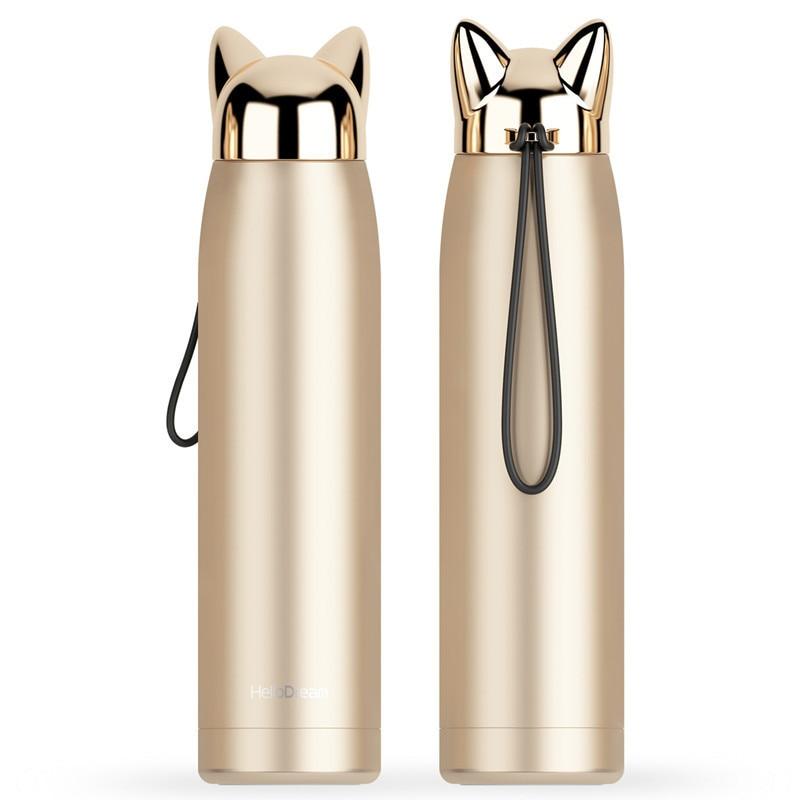 garrafa termica portatil em forma de gato