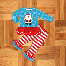 New Arrival Girl Leisure Clothe  Festival Styles Cutey Clothes Santa Claus Pattern Free Shipping 2GK907-1410-HY