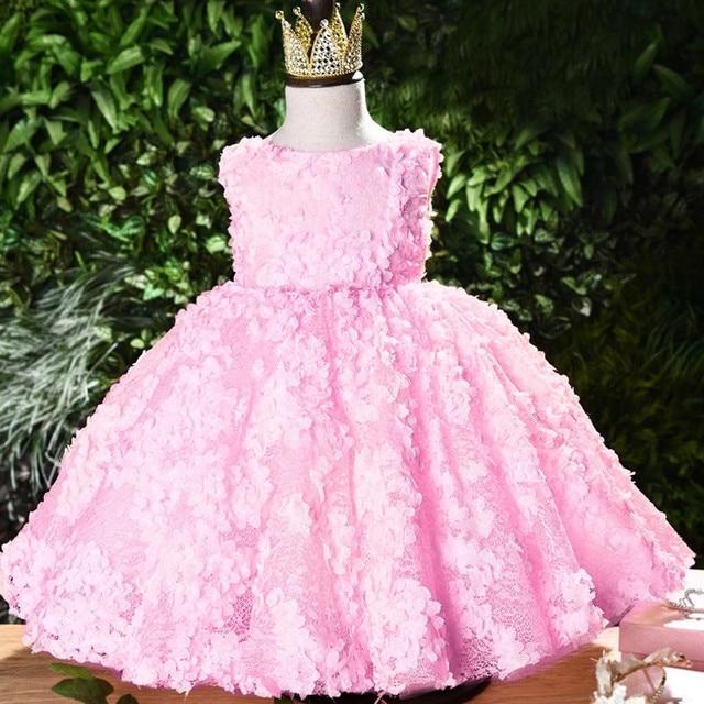 birthday party Girl/'s dress Pig rose