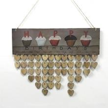 Подвесной день рождения напоминание календари доска табличка знак семья календарь друзей Рождественская вечеринка Декор