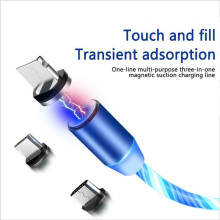 Magnetic Absorption Data Cable 360 Degree Innovative Streamer USB Aluminum Alloy IJS998