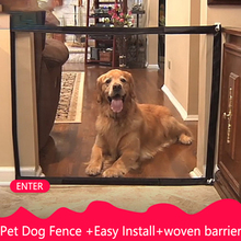 Magic-Gate Dog Pet Fences Portable Folding Safe Guard Indoor and Outdoor Protection Safety Magic Gate For Dogs Cat Pet все цены