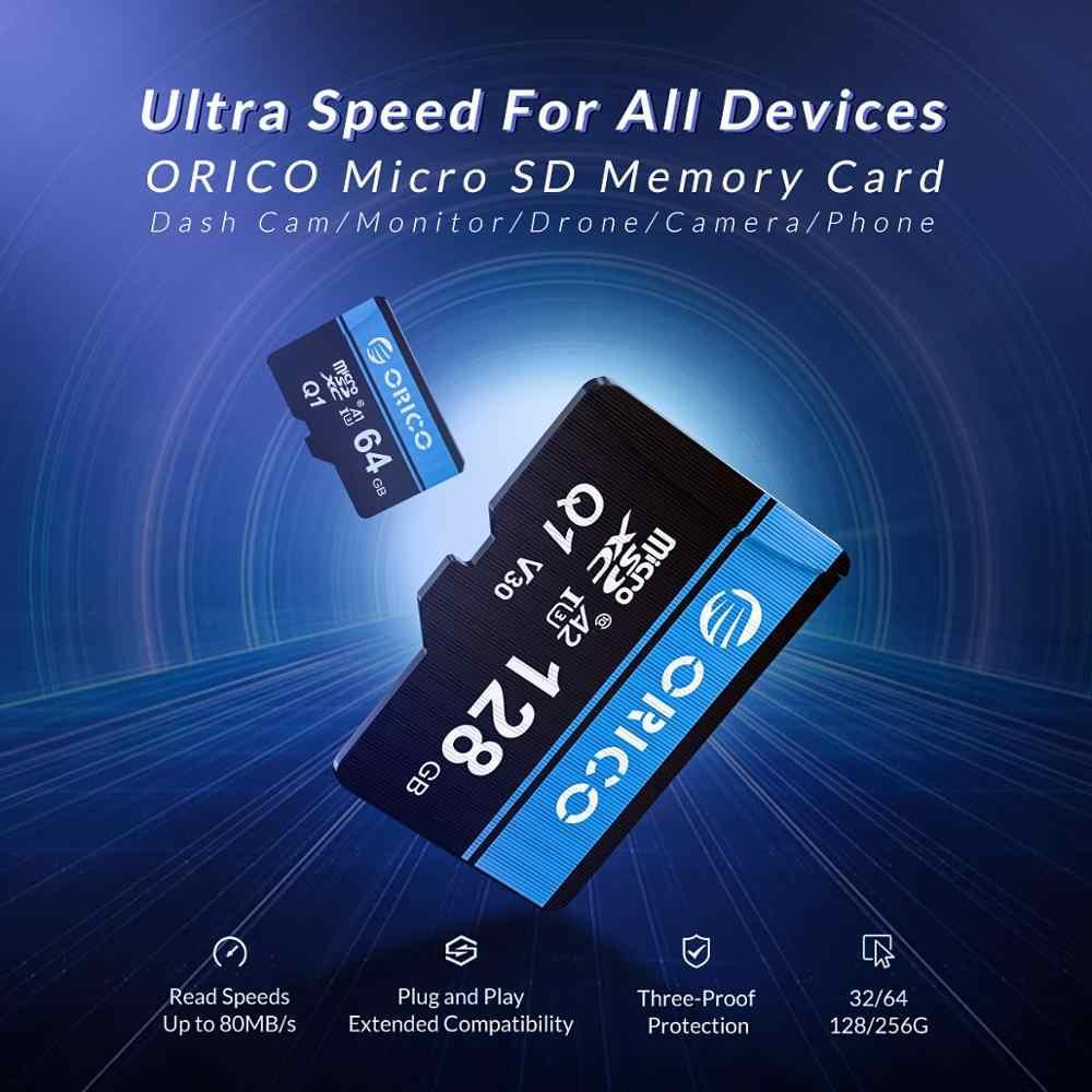 Orico Mini Micro SD Card Kartu Memori 32GB 64GB 128GB 256GB MicroSD Max 80 M/S SD/TF Kartu Flash Cartao De Memoria