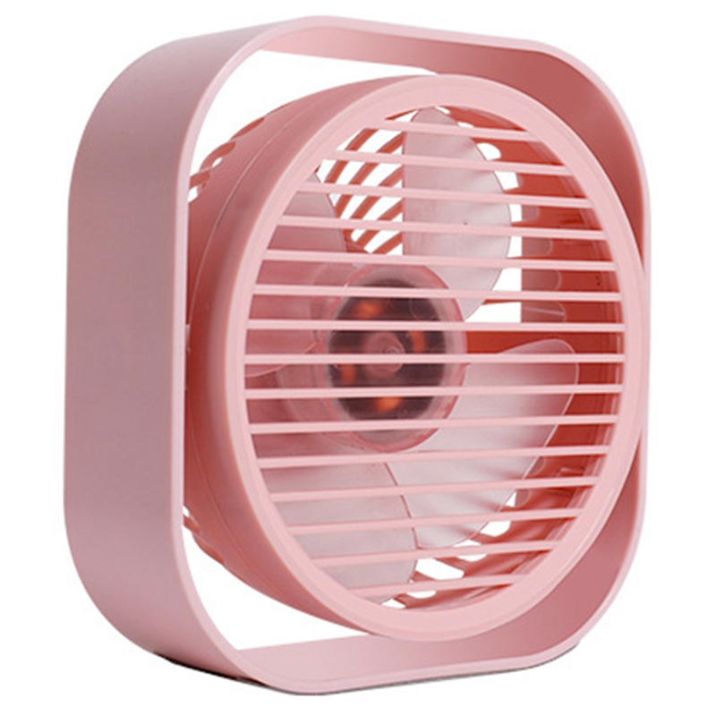 Mini Usb Desktop Fan Personal Portable Cooling Fan with 360 Rotation Adjustable Angle for Office Household Traveling Fans     - title=