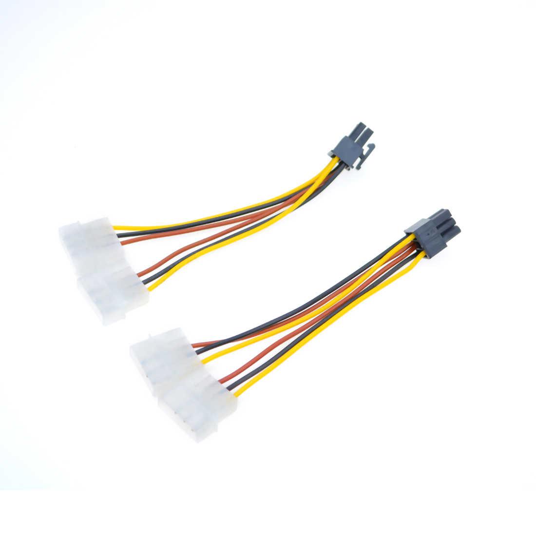 18cm ATX IDE הכפול 4 פינים 4 P כדי 6 פינים PCI-Express PCIE 6 P גרפי כרטיס כוח ממיר מתאם כבל Y ספליטר כבל