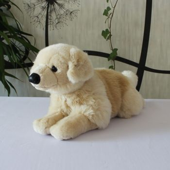 Real Life Plush Labrador Doll Toy Cute Stuffed Animal Toys Children Birthday  Present Pillow