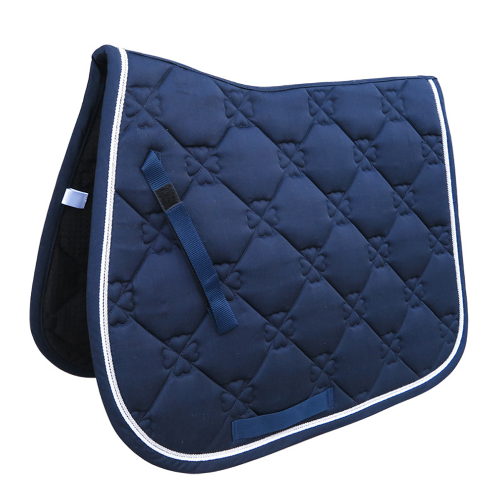 Soft Supportive Performance Sports Equipment Cotton Blends Dressage All Purpose Horse Riding Saddle Pad Shock Absorbing Cover