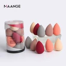 10 pçs/caixa maquiagem esponjas puff fundação corretivo puff mini uso molhado e seco pó suave cosméticos compõem sopro ferramenta de beleza quente