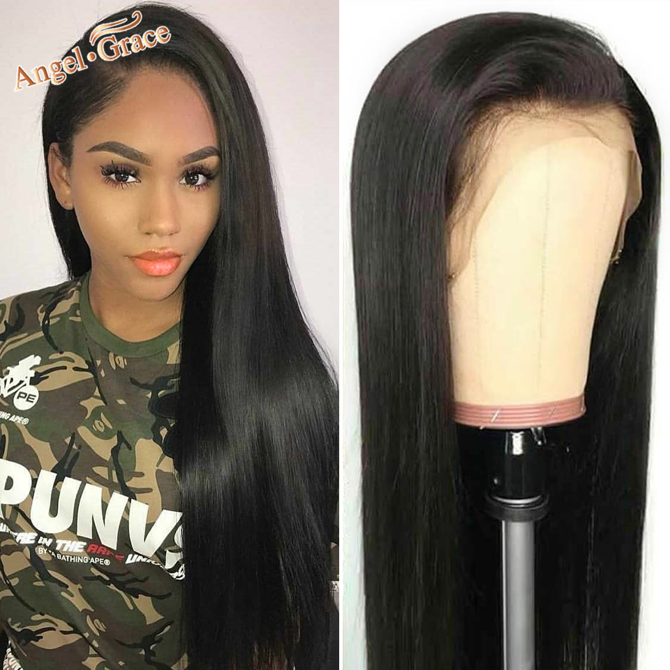 Angel Grace 360 Lace Frontal Wig Brazilian Straight Human Hair Wigs 360 Lace Frontal Wigs With Baby Hair For Women Remy Hair