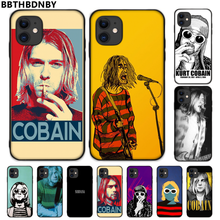 For iphone 11 Nirvana Kurt Cobain TPU black Phone Case Cover Hull For iphone 5 5S SE 5C 6 6S 7 8 plus X XS XR 11 PRO MAX(China)