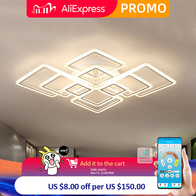 Modern LED ceiling lamp dimmable  remote control lamp bedroom living room ceiling lamp