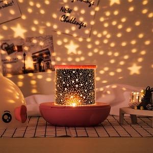 Image 4 - Baciare Pesce Rotante Proiettore di Luce di Notte Atmosfera Spin star ry Cielo star Master Capretti Dei Bambini Del Bambino di Sonno Romantico Led USB