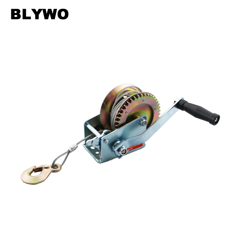 540kg 10M Wire Rope Hand Winch Manual Winch 1200LB Gear Winch Car Parts Auto Towing Tow Tools