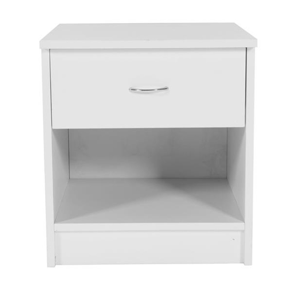 1pc Drawer Arc-shaped Handle Night Stand White Night Table Side Table