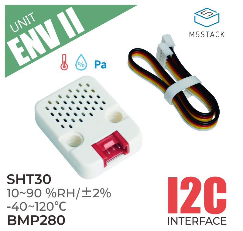 M5Stack Official ENV II Environment Sensor SHT30 & BMP280 High-precision Temperature Humidity Atmospheric Pressure IIC Support