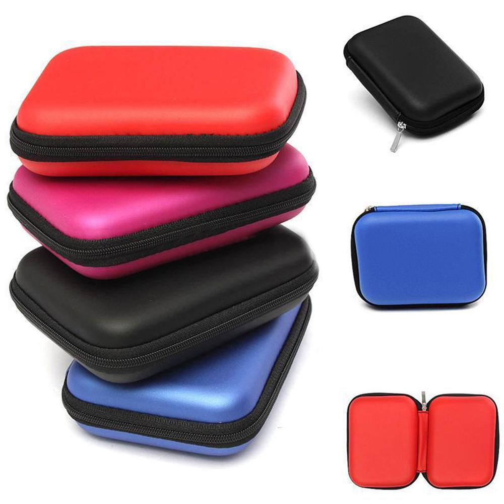 """2.5"""" HDD Bag External USB Hard Drive Disk Pouch Earphone Bag Carry Usb Cable Case Cover For SSD HDD Hard Disk Case коробка"""