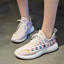2019 Women Shoes Autumn White Shoes Sneakers Ladies Fashion Brand Retro Platform Shoes Footwear Breathable Mesh Sneakers C0040 цена и фото