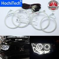 for Mitsubishi Challenger Montero Sport 2008 2016 Ultra bright SMD white LED angel eyes 2600LM 12V halo ring kit day light